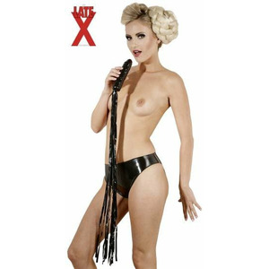 Latex Whip black