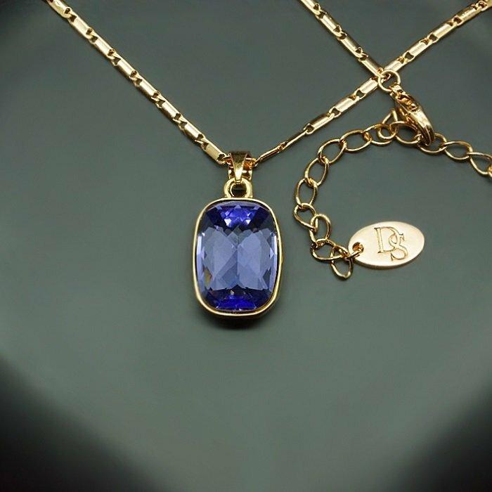 "Kulons ""Luksors II (Bermuda Blue)"" ar Swarovski™ kristāliem"