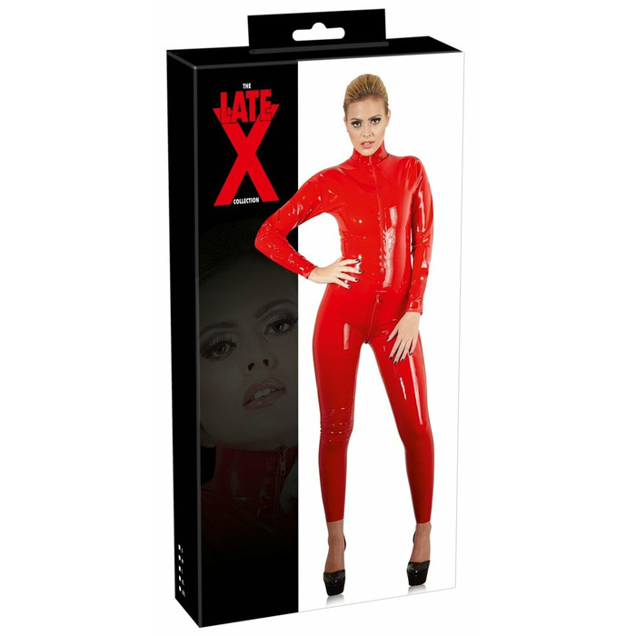 Latex Catsuit red S