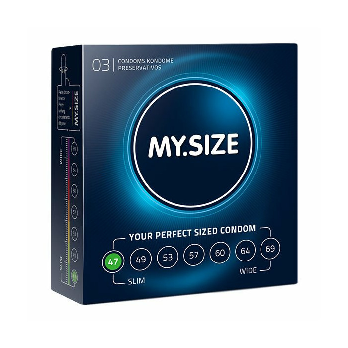 MY SIZE NATURAL LATEX CONDOM 47 WIDTH 3PCS