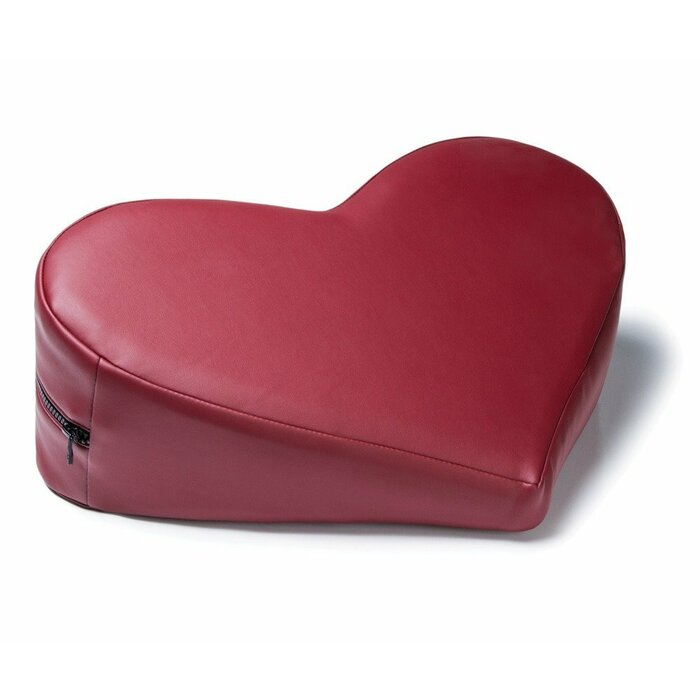 Faux Leather Heart WedgeClaret