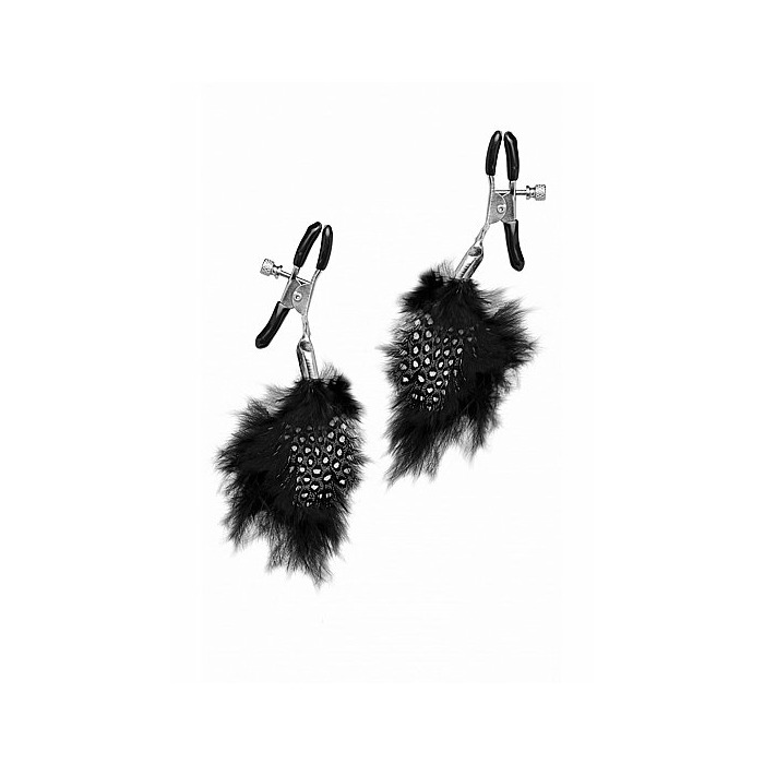 Feather Nipple Clips - Black