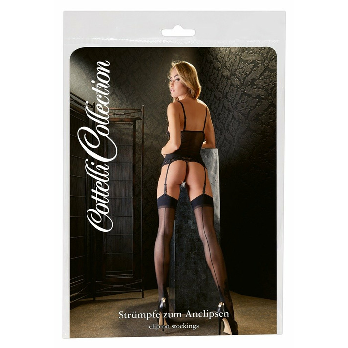 Stockings with seam black 1