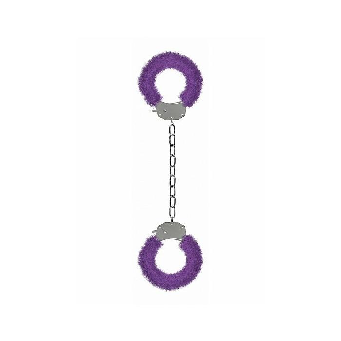 Pleasure Legcuffs Furry - Purple