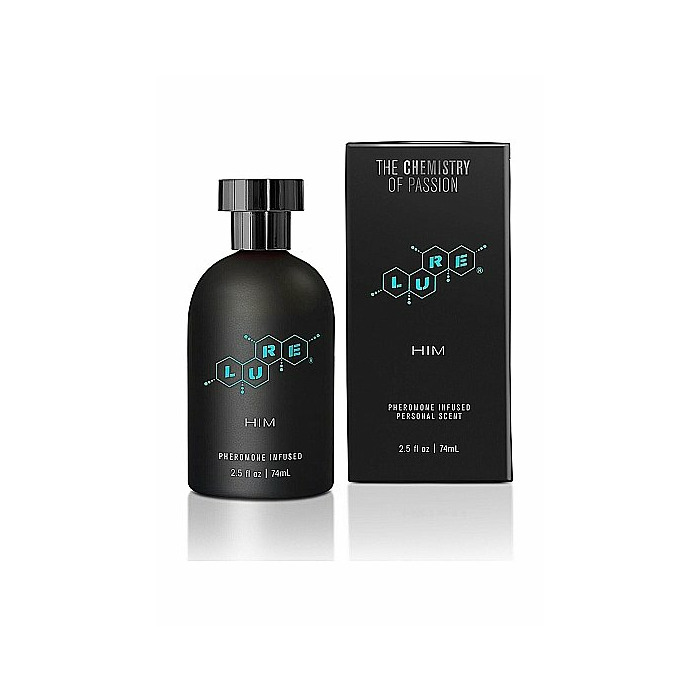 Lure Black Label For Him, Pheromone Scent Botlle - 74ml