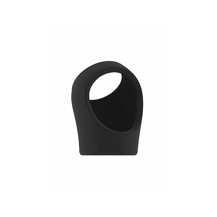 No.45 - Cockring with Ball Strap - Black
