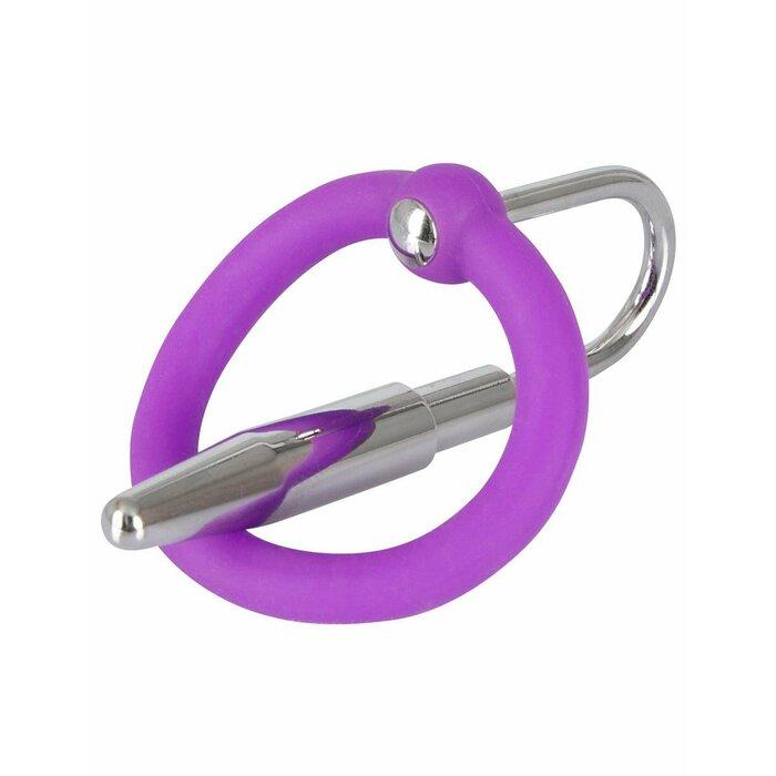 You2Toys locekļa galviņas gredzens ar metāla tapu Violets/sudrabains
