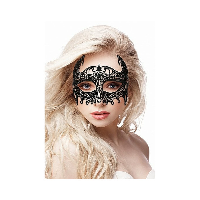 Empress Black Lace Mask  - Black