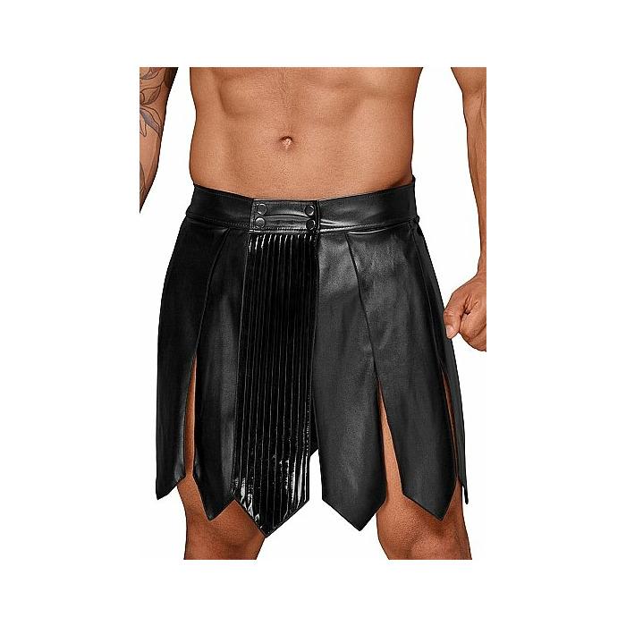 Leather gladiator skirt - XXXL - Black