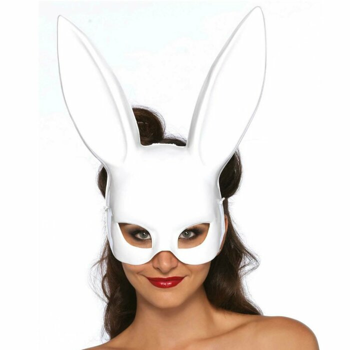 LEG AVENUE MASQUERADE RABBIT MASK WHITE