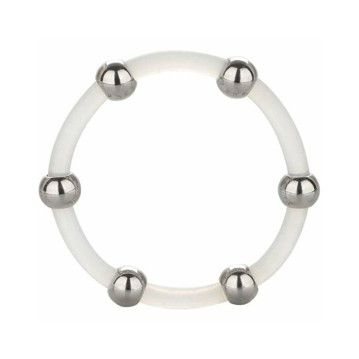CALEX STEEL BEADED SILICONE RING XL