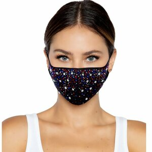 LEG AVENUE LIBERTY RHINEST FACE MASK