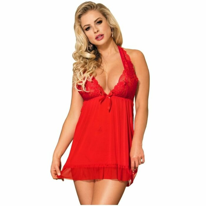 SUBBLIME RED BABYDOLL FLORAL MOTIVS IN BREASTS S/M