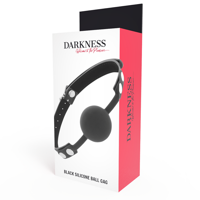 DARKNESS BALL SILICONE GAG BLACK