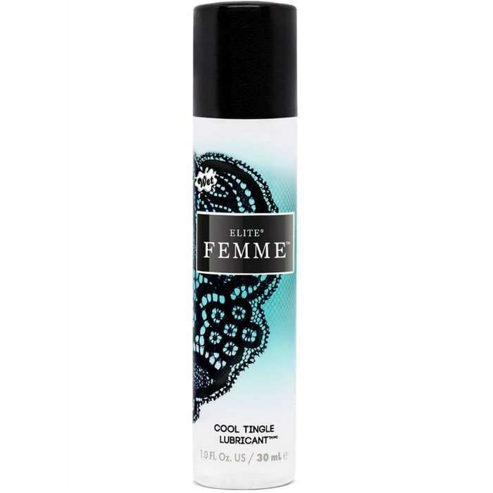 WET ELITE FEMME COOL WATER-SILICONE TINGLE LUBRICANT 30 ML