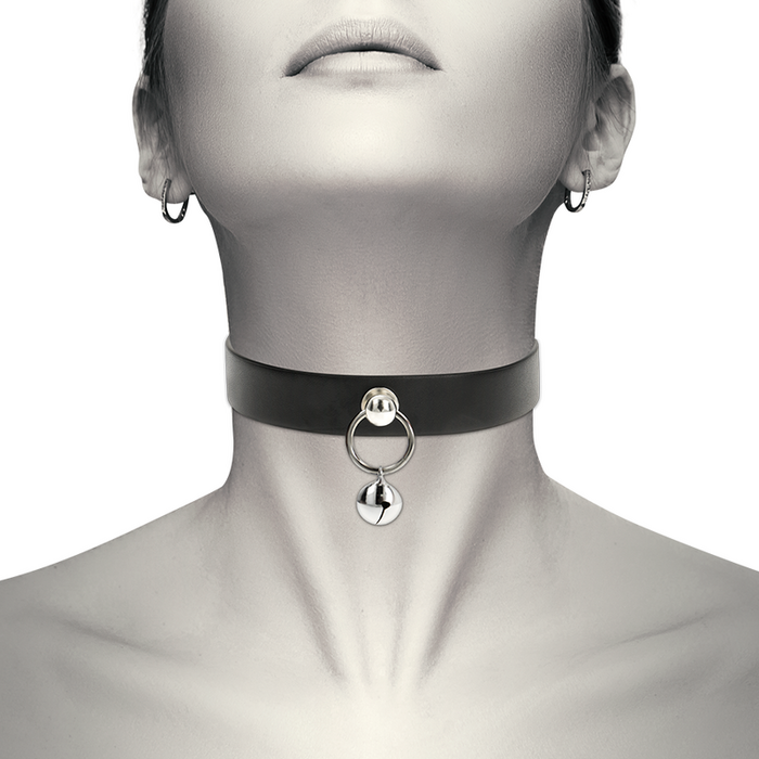 COQUETTE HAND CRAFTED CHOKER JINGLE BELL