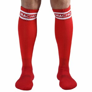 MACHO MALE LONG SOCKS ONE SIZE - RED