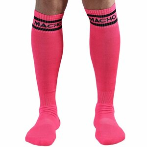 MACHO MALE LONG SOCKS ONE SIZE - PINK