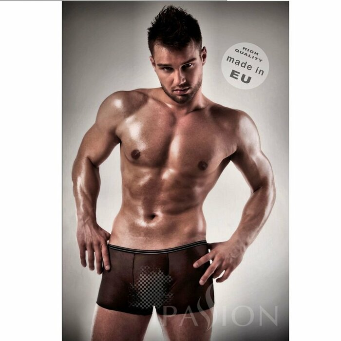 PASSION MEN 025 BLACK AND CLEAR BOXER S/M