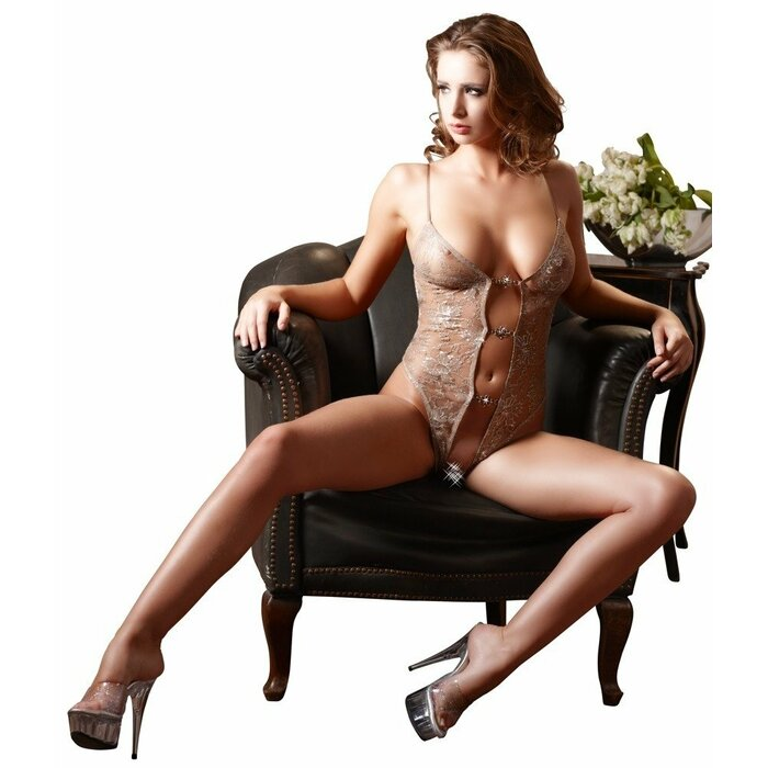 Body nude/silber XL