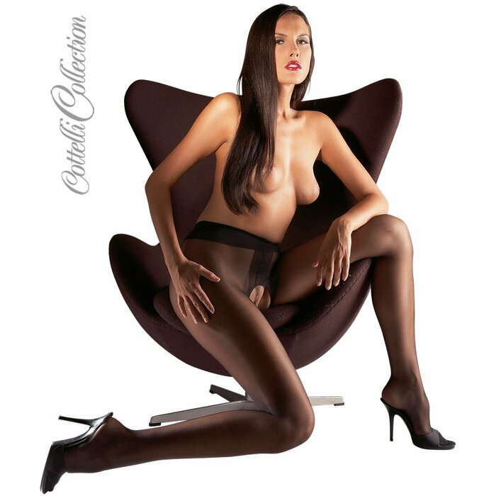 Crotchless Tights black S