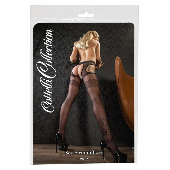 Tights with garter L